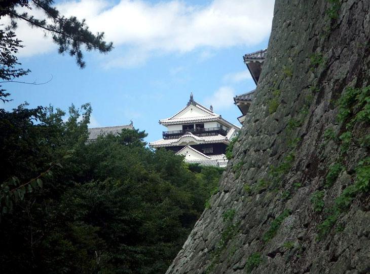改装された松山城 近景(2007.8.11学会当日撮影)