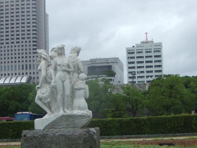 広島城公園内のモニュメント